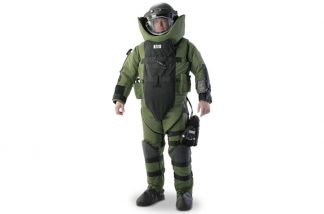 EOD 9 Bomb Suit and Helmet Ensemble_E