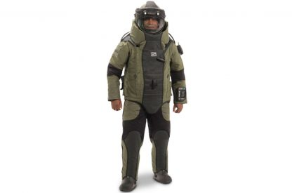 EOD 10 Bomb Suit and Helmet Ensemble