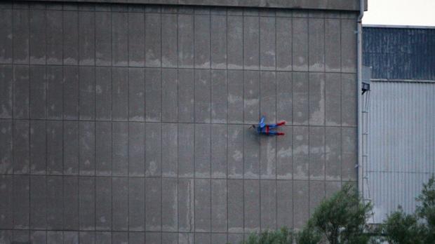 Greenpeace 'crash' Superman drone into French nuclear facility