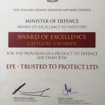 EPE wins the 2019 Minister of Defence Awards of Excellence to Industry